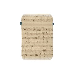 Vintage Beige Music Notes Apple Ipad Mini Protective Soft Cases by Celenk