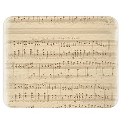 Vintage Beige Music Notes Double Sided Flano Blanket (medium)  by Celenk