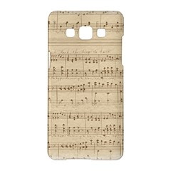 Vintage Beige Music Notes Samsung Galaxy A5 Hardshell Case  by Celenk