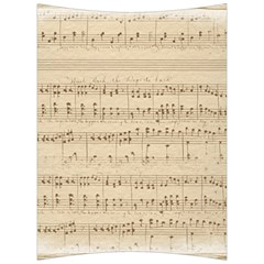 Vintage Beige Music Notes Back Support Cushion by Celenk