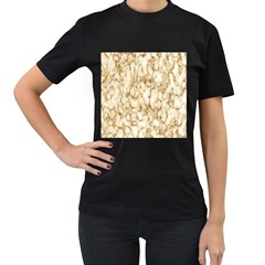 Abstract Art Backdrop Background Women s T Shirt (black) (two Sided)