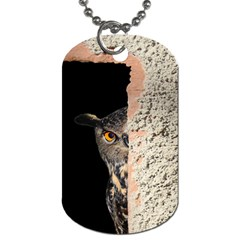 Owl Hiding Peeking Peeping Peek Dog Tag (two Sides)