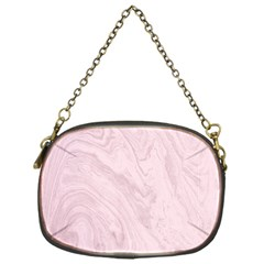 Marble Background Texture Pink Chain Purses (one Side)  by Celenk