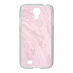 Marble Background Texture Pink Samsung Galaxy S4 I9500/ I9505 Case (white)