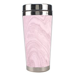 Marble Background Texture Pink Stainless Steel Travel Tumblers by Celenk
