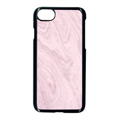 Marble Background Texture Pink Apple Iphone 8 Seamless Case (black) by Celenk