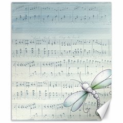 Vintage Blue Music Notes Canvas 8  X 10  by Celenk