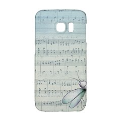 Vintage Blue Music Notes Galaxy S6 Edge by Celenk