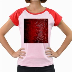 Pattern Backgrounds Abstract Red Women s Cap Sleeve T Shirt by Celenk