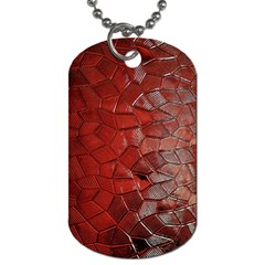 Pattern Backgrounds Abstract Red Dog Tag (one Side)