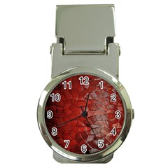 Pattern Backgrounds Abstract Red Money Clip Watches by Celenk