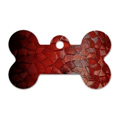 Pattern Backgrounds Abstract Red Dog Tag Bone (two Sides)