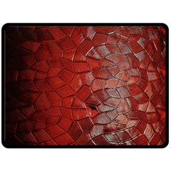 Pattern Backgrounds Abstract Red Fleece Blanket (large)