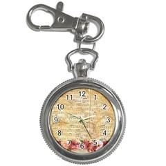 Background Old Parchment Musical Key Chain Watches by Celenk