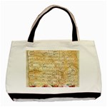 Background Old Parchment Musical Basic Tote Bag Front