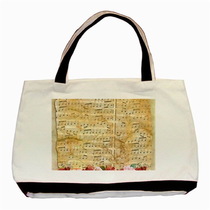 Background Old Parchment Musical Basic Tote Bag