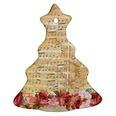 Background Old Parchment Musical Ornament (christmas Tree)
