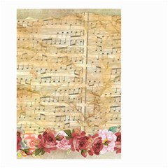 Background Old Parchment Musical Small Garden Flag (two Sides) by Celenk