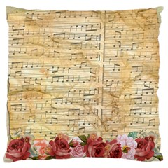 Background Old Parchment Musical Large Cushion Case (two Sides) by Celenk