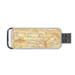 Background Old Parchment Musical Portable Usb Flash (one Side) by Celenk