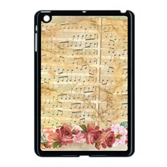 Background Old Parchment Musical Apple Ipad Mini Case (black)