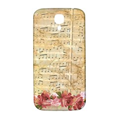 Background Old Parchment Musical Samsung Galaxy S4 I9500/i9505  Hardshell Back Case