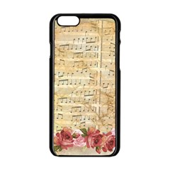 Background Old Parchment Musical Apple Iphone 6/6s Black Enamel Case by Celenk
