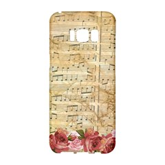 Background Old Parchment Musical Samsung Galaxy S8 Hardshell Case  by Celenk