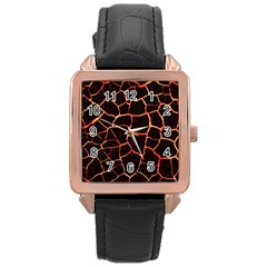 Magma Rose Gold Leather Watch  by jumpercat
