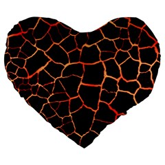 Magma Large 19  Premium Flano Heart Shape Cushions by jumpercat