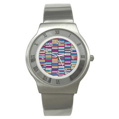 Color Grid 01 Stainless Steel Watch by jumpercat