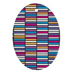 Color Grid 01 Oval Ornament (two Sides)