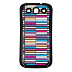 Color Grid 01 Samsung Galaxy S3 Back Case (black) by jumpercat