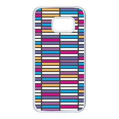 Color Grid 01 Samsung Galaxy S7 White Seamless Case