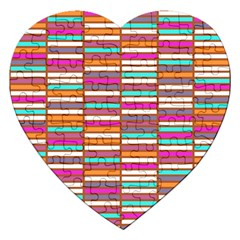 Color Grid 02 Jigsaw Puzzle (heart) by jumpercat