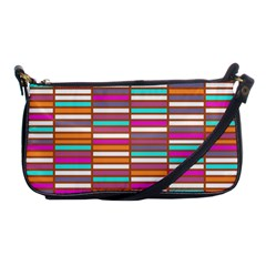 Color Grid 02 Shoulder Clutch Bags by jumpercat