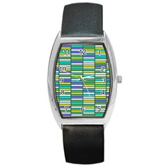 Color Grid 03 Barrel Style Metal Watch