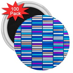 Color Grid 04 3  Magnets (100 Pack) by jumpercat