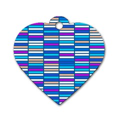 Color Grid 04 Dog Tag Heart (two Sides)