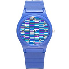 Color Grid 04 Round Plastic Sport Watch (s)