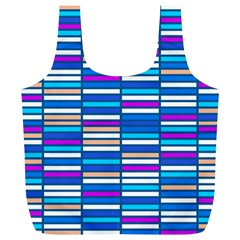 Color Grid 04 Full Print Recycle Bags (l)