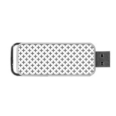 Black Cross Portable Usb Flash (one Side)