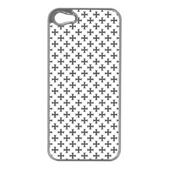 Black Cross Apple Iphone 5 Case (silver)