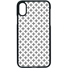 Black Cross Apple Iphone X Seamless Case (black)