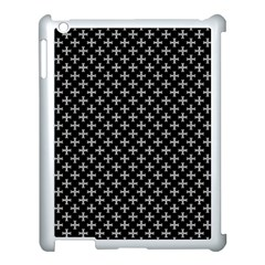 White Cross Apple Ipad 3/4 Case (white)