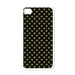 Yellow Cross Apple Iphone 4 Case (white) by jumpercat