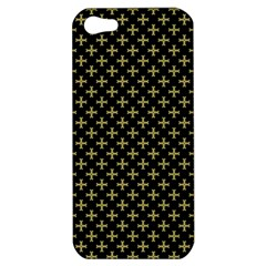 Yellow Cross Apple Iphone 5 Hardshell Case by jumpercat