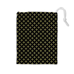 Yellow Cross Drawstring Pouches (large)
