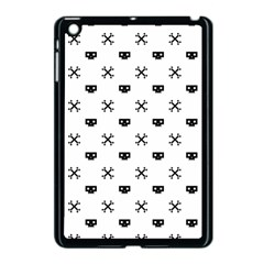 Black Pixel Skull Pirate Apple Ipad Mini Case (black)