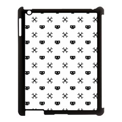 Black Pixel Skull Pirate Apple Ipad 3/4 Case (black)